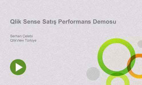 Qlik Sense Satış Performans Demosu