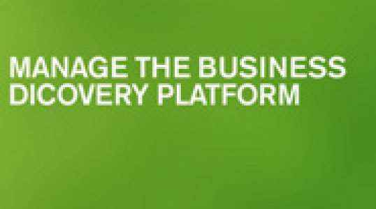 Manage the Business Discovery Platform